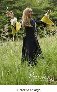 With the Girls Medieval Dress, children can appreciate the clothing of the middle ages. Little girls can now enjoy the fun of role-playing with this period accurate dress that will complement any young maidens look.