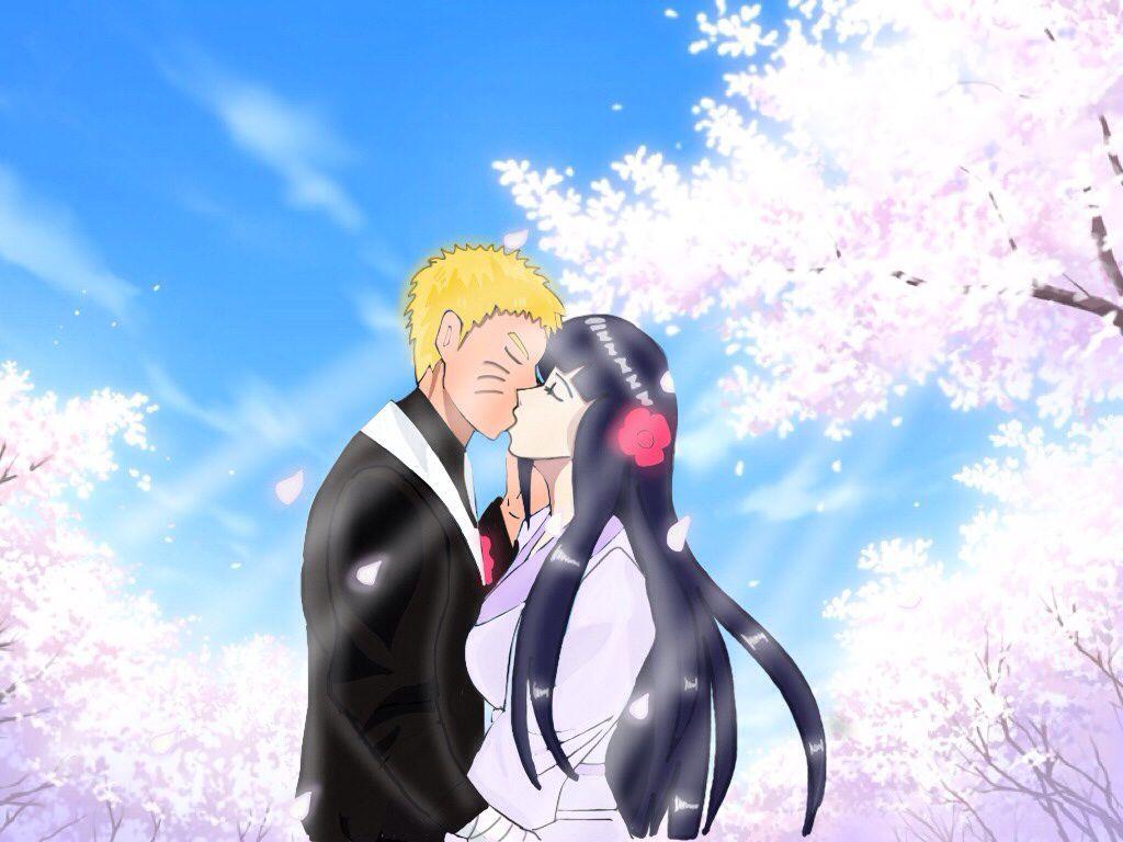 Naruhina Wedding Kiss By Dreibee07 On Deviantart Naruhina Wedding Kiss Naruto New Generation