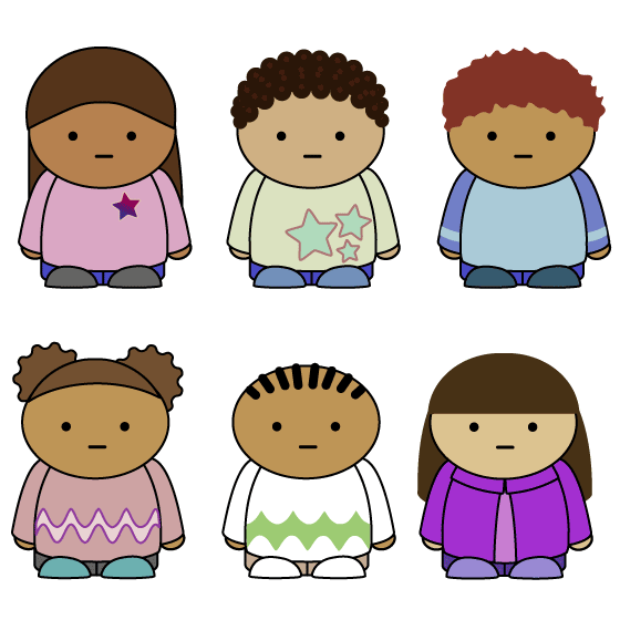 Dibujo simple de niños - vector
