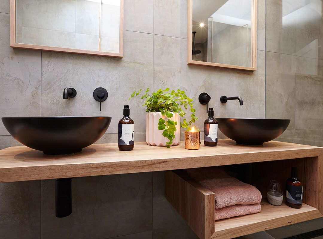Bunnings Bathrooms Vanity Bring Warmth To Your Bathroom By Introducing Natural