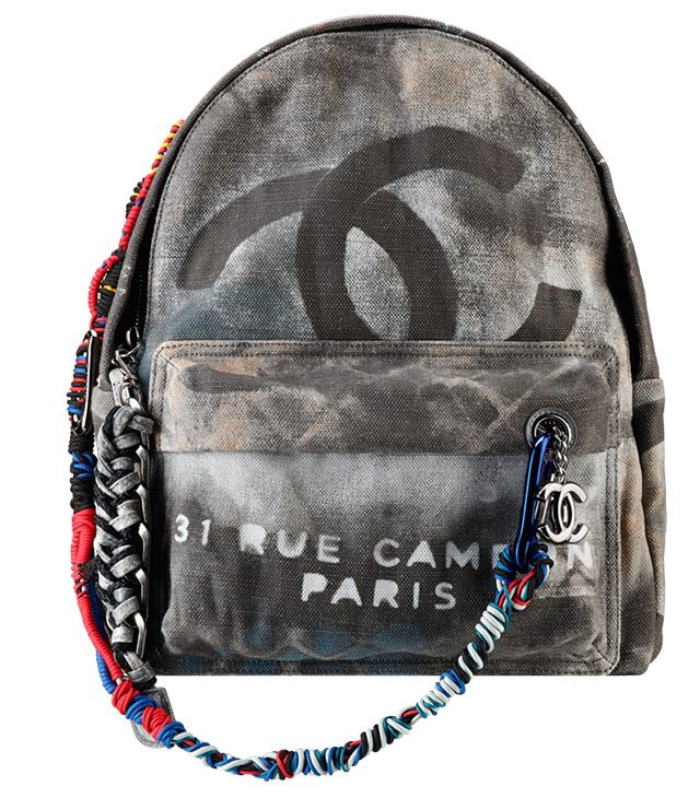91425da258f0 Chanel Graffiti Backpack Dark Grey | Got Bags | Chanel backpack ...
