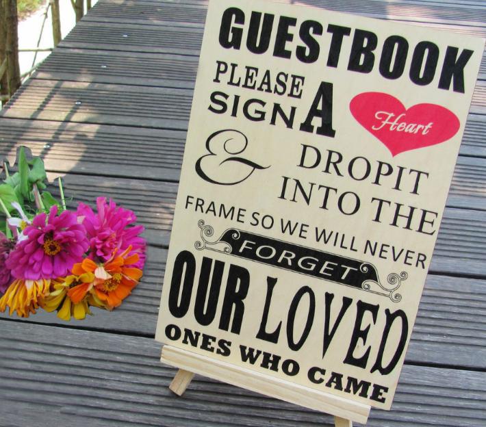 Welkomsbord Uitleg Gastenboek Teken Een Hart Gastenboek Voor Bruiloft Gastenboek Bruiloftsborden