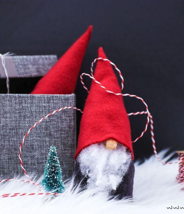 Wichtel basteln ohne Nähen – Süße Weihnachtsdeko und Geschenkidee