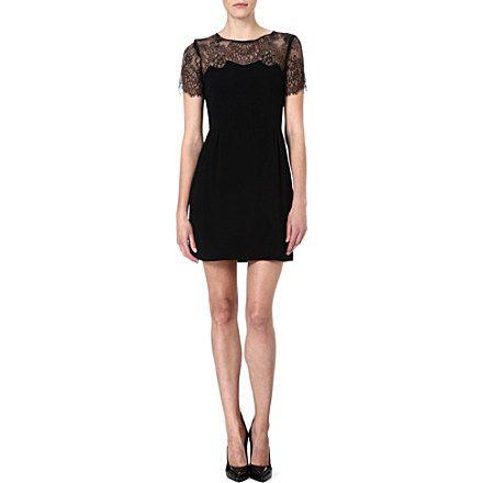 SANDRO Lace-detail dress (Black