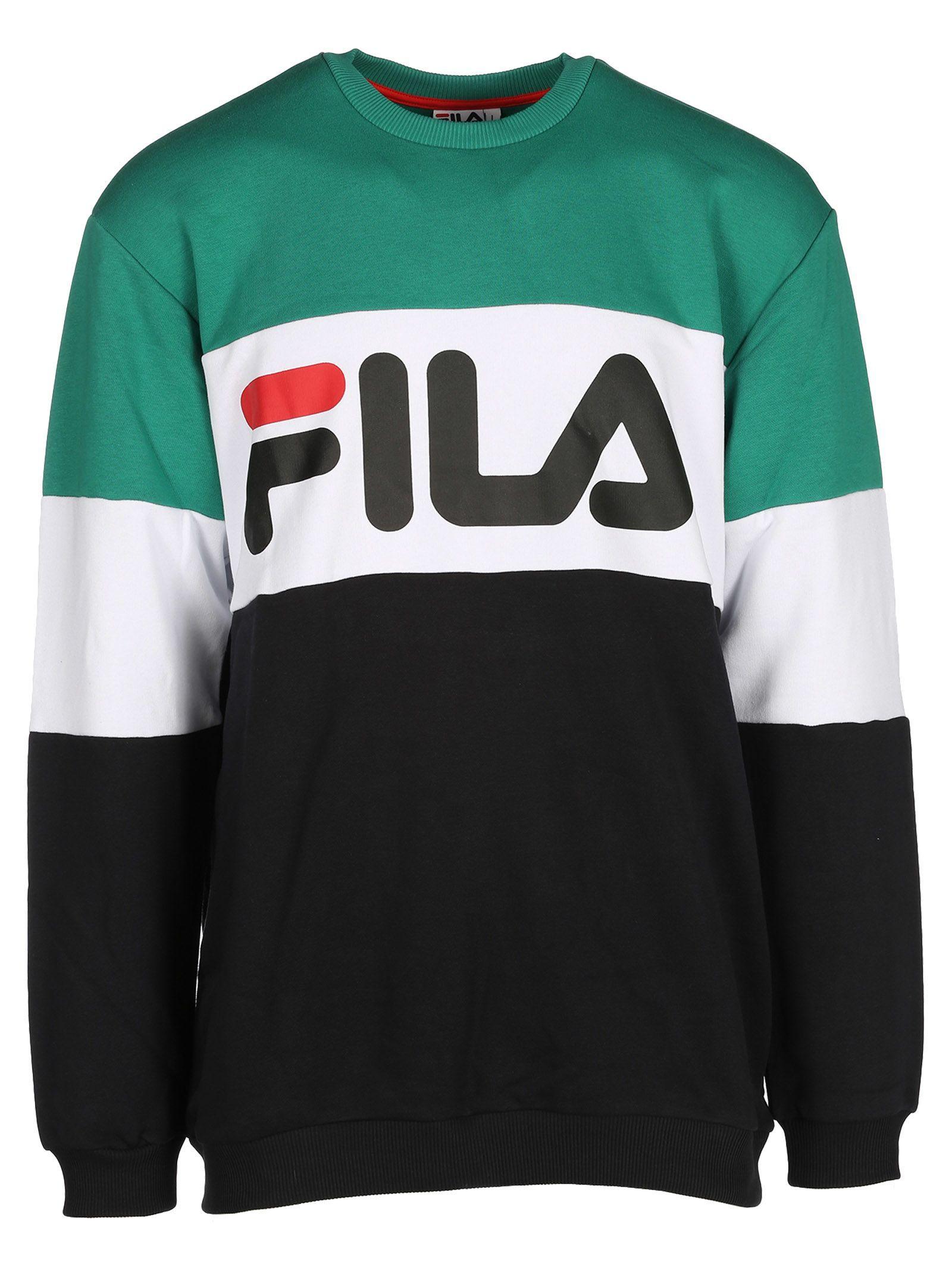 5fb57caa9832 FILA LOGO COLOUR BLOCK SWEATSHIRT. #fila #cloth #   Fila Men in 2019 ...