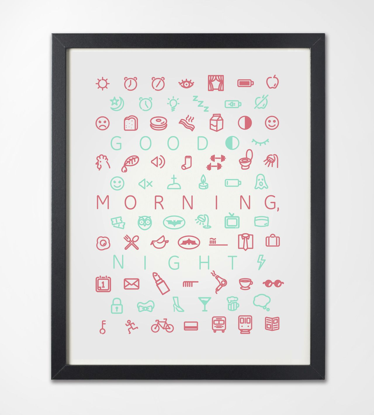 Good Morning, Night (minimalist icon set)   Design — Icons   Graphic