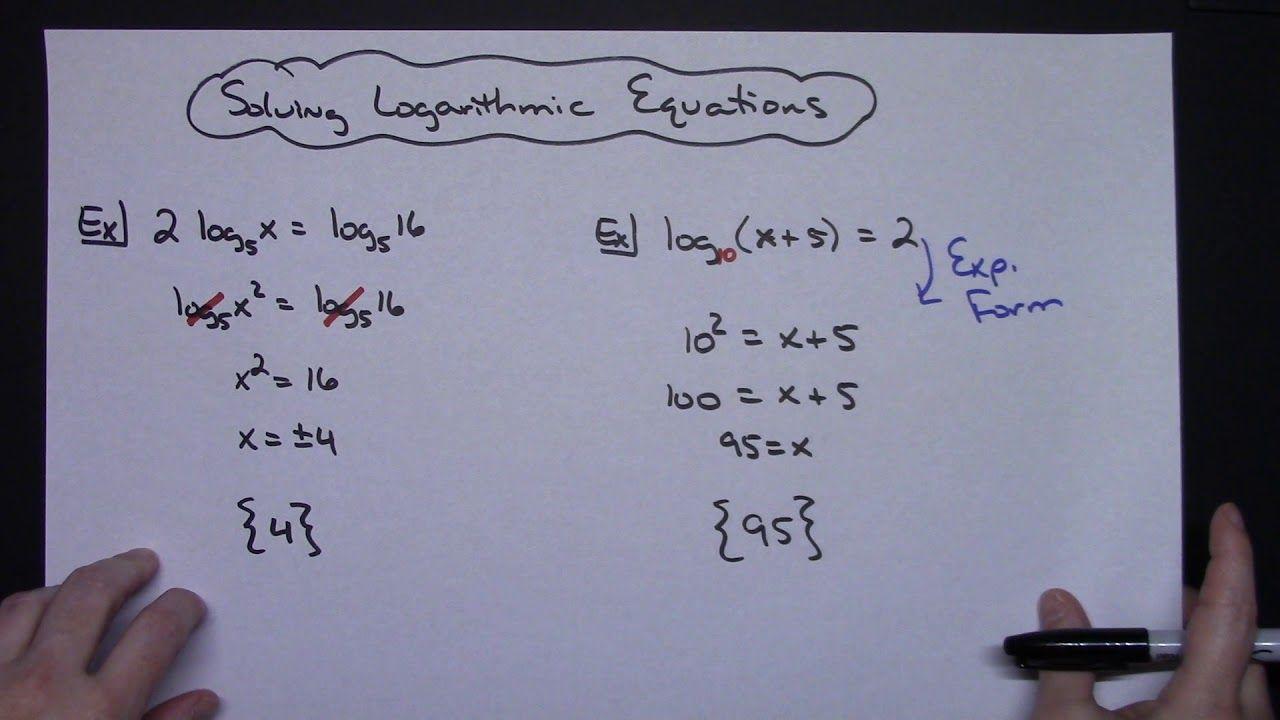 Solve Logarithmic Equations Equations Math Tricks Teaching Tips