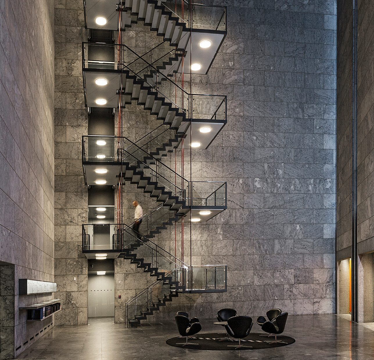 Best Arne Jacobsen Steel Stair Rodovre Town Hall Steel Stairs 400 x 300