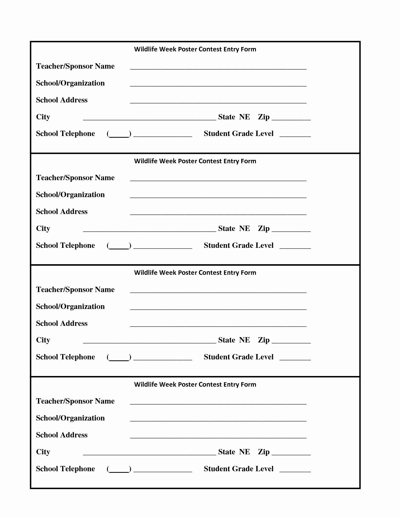 Raffle Entry Form Template Word Best Of Contest Entry Forms Template Blank Templates Resume School Newsletter Template Worksheet Template Templates Blank contest entry form template