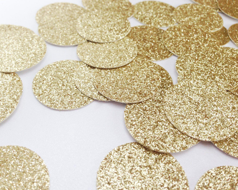 "100 Gold Glitter Circle Confetti - 1"" - Confetti - Wedding, Birthday, Bachelorette, First Birthday, Bridal Shower, Baby Shower - pinned by pin4etsy.com"