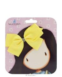 Gorjuss Big Hair Bow - Lemon - Perfect for adding a zest of lemon to your hair styling!  Shop hair accessories at: https://www.santoro-london.com/shop/bags-accessories/accessories/hair-accessories/