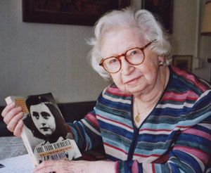 Miep Gies Jan 11, 2010 weeks shy of her 101st birthday. Gies worked for Otto Frank's Amsterdam pectin co. & was the main caretaker of the Franks, including Anne, and the four other Jews who hid for 25 months in the business' back rooms. Those hiding in the Secret Annex managed, with the help of Gies, her husband & four co-workers, to evade capture by the Nazis until Aug. 1944. Dispersed to various concentration camps, only Anne's father returned alive.