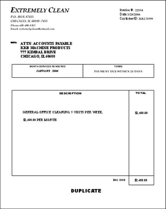 Make Money Cleaning Billing Janitorial Service Forms - Cleaning service invoice template free