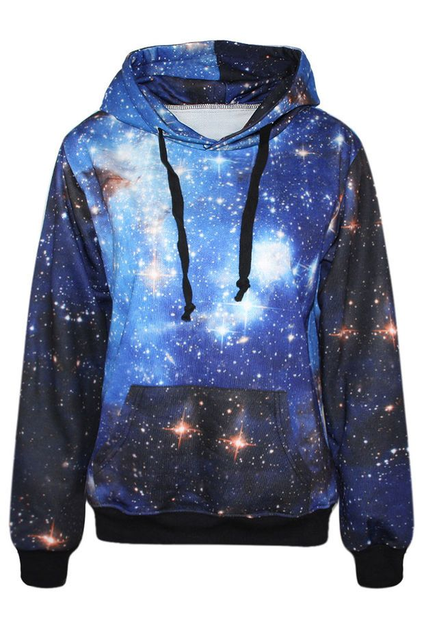 cb45a190069 Galaxy Print Hoodie | Hoodies | Galaxy hoodie, Galaxy sweatshirt ...