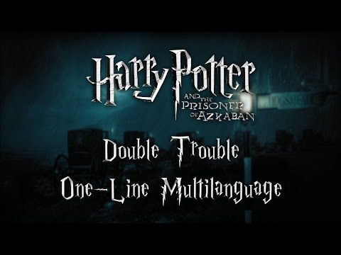Harry Potter Double Trouble One Line Multilanguage Youtube Double Trouble Harry Potter Gif Harry