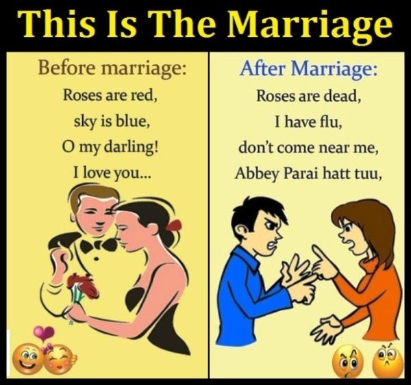 Before And After Marriage Funny Joke Marriage Jokes Marriage Humor After Marriage
