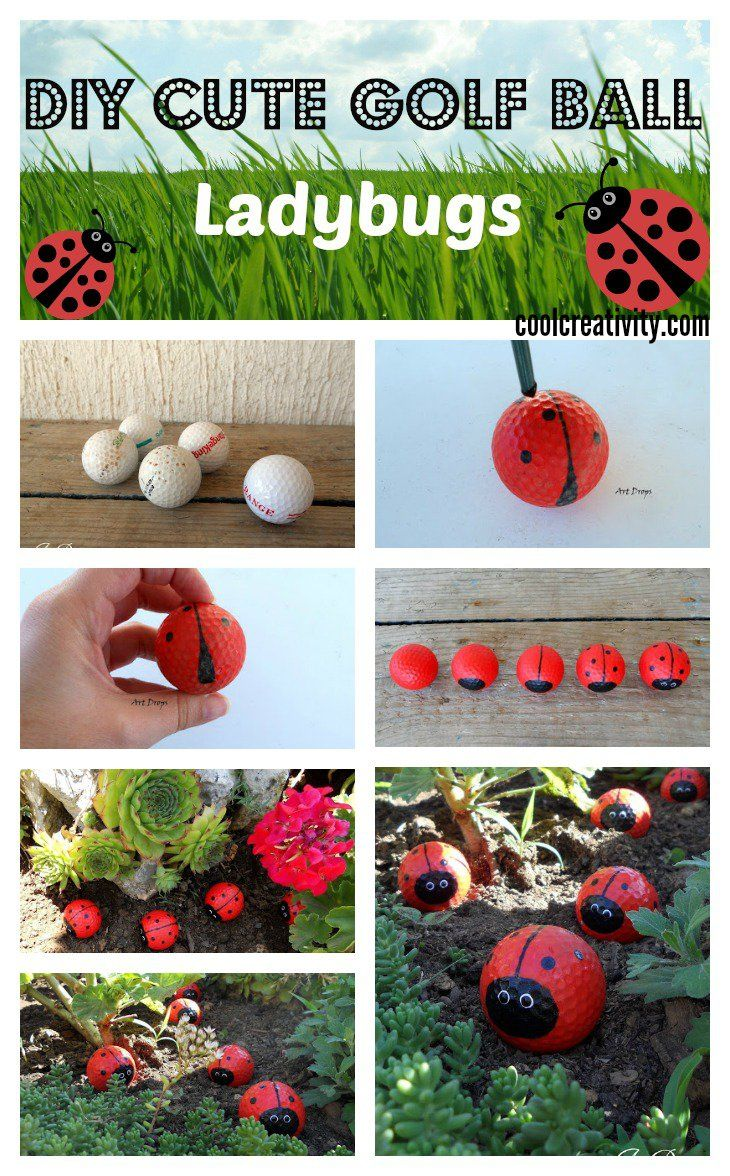DIY Cute Golf Ball Ladybugs | Crafts | Pinterest