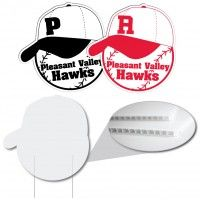 Baseball Hat Corrugated Plastic Sign Corrugated Plastic Signs Are The Solution To Your Inexpensive Si Corrugated Plastic Signs Advertising Signs Realtor Signs
