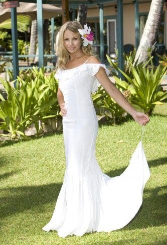 hawaii Beach Wedding Dresses | Hawaiian Beach Simple Wedding Dress ...