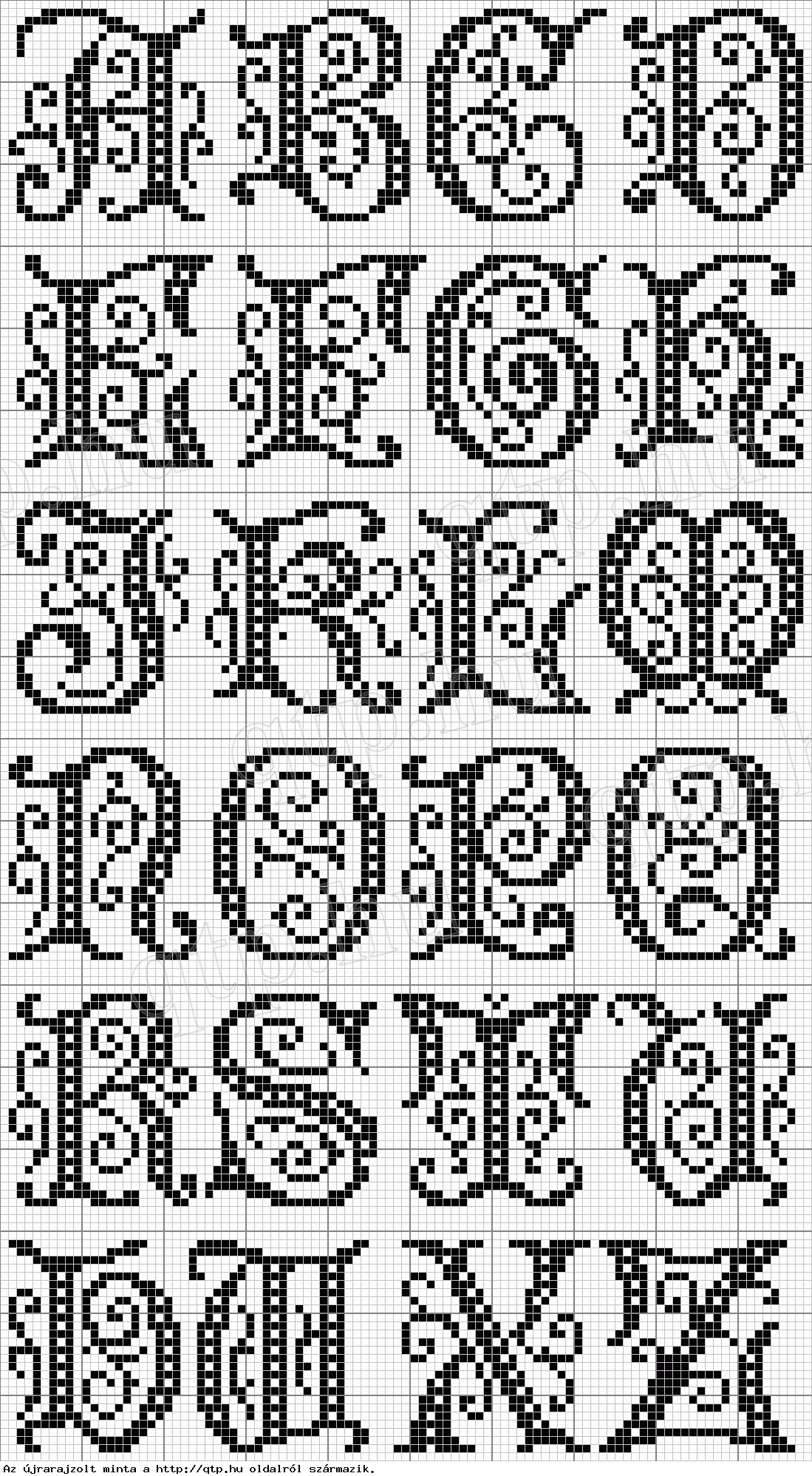 Cross stitch - alphabet | Yarn | Pinterest | Kreuzstich, Alphabet ...