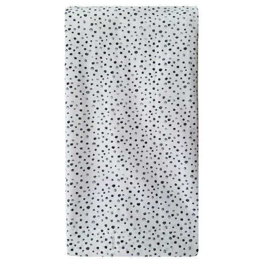 dc8c5662e4 One way chucky fabric of Project 62 Microdot Black Shower Curtain. This  single color micro dot printed with contrasting white gives classic look  and feel to ...
