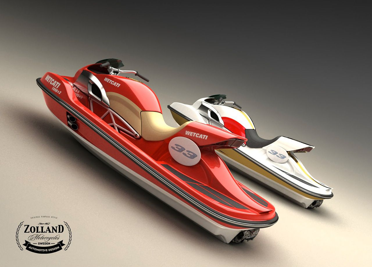 A Ducati That Rides On Water Meet The Wetcati Jetski Concept From