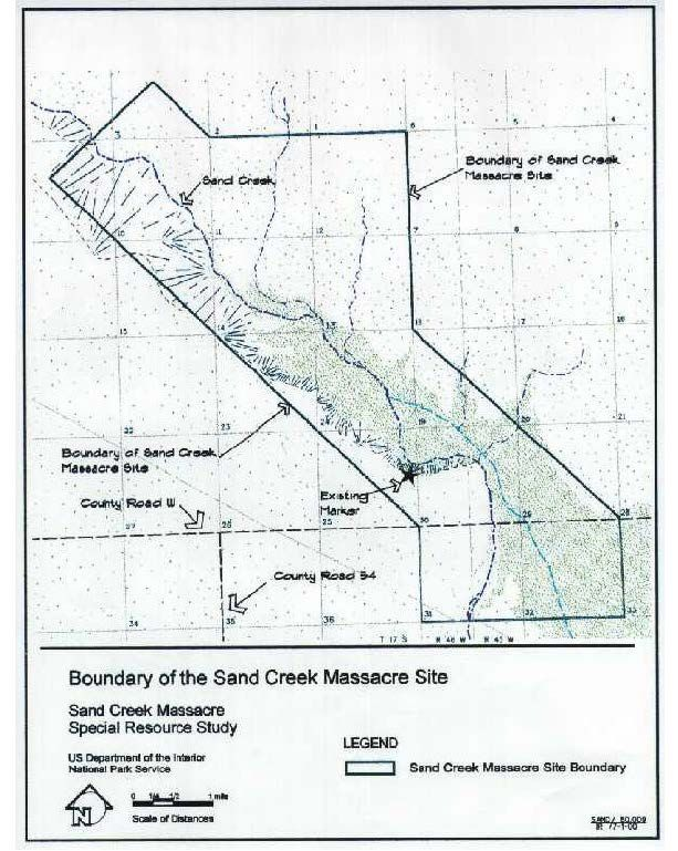 Sand Creek Official Boundary Map