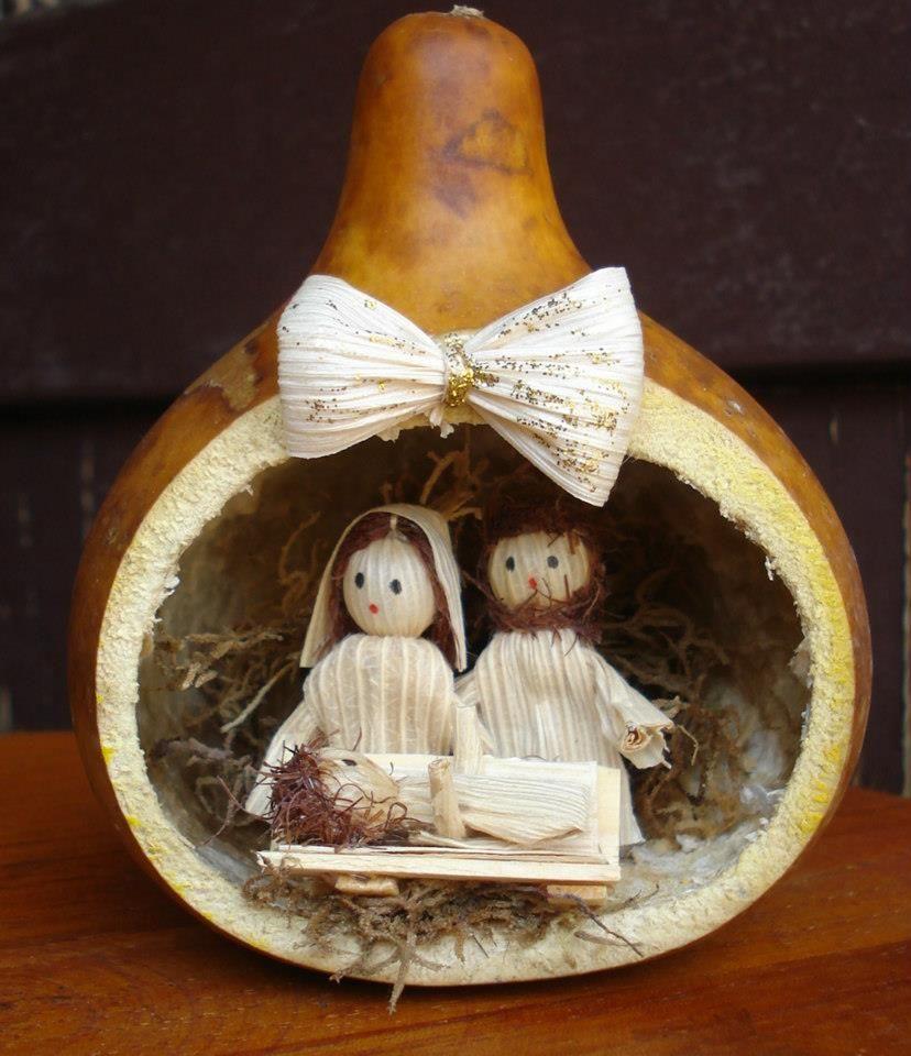 Presépio feito de cabaça - Brasil