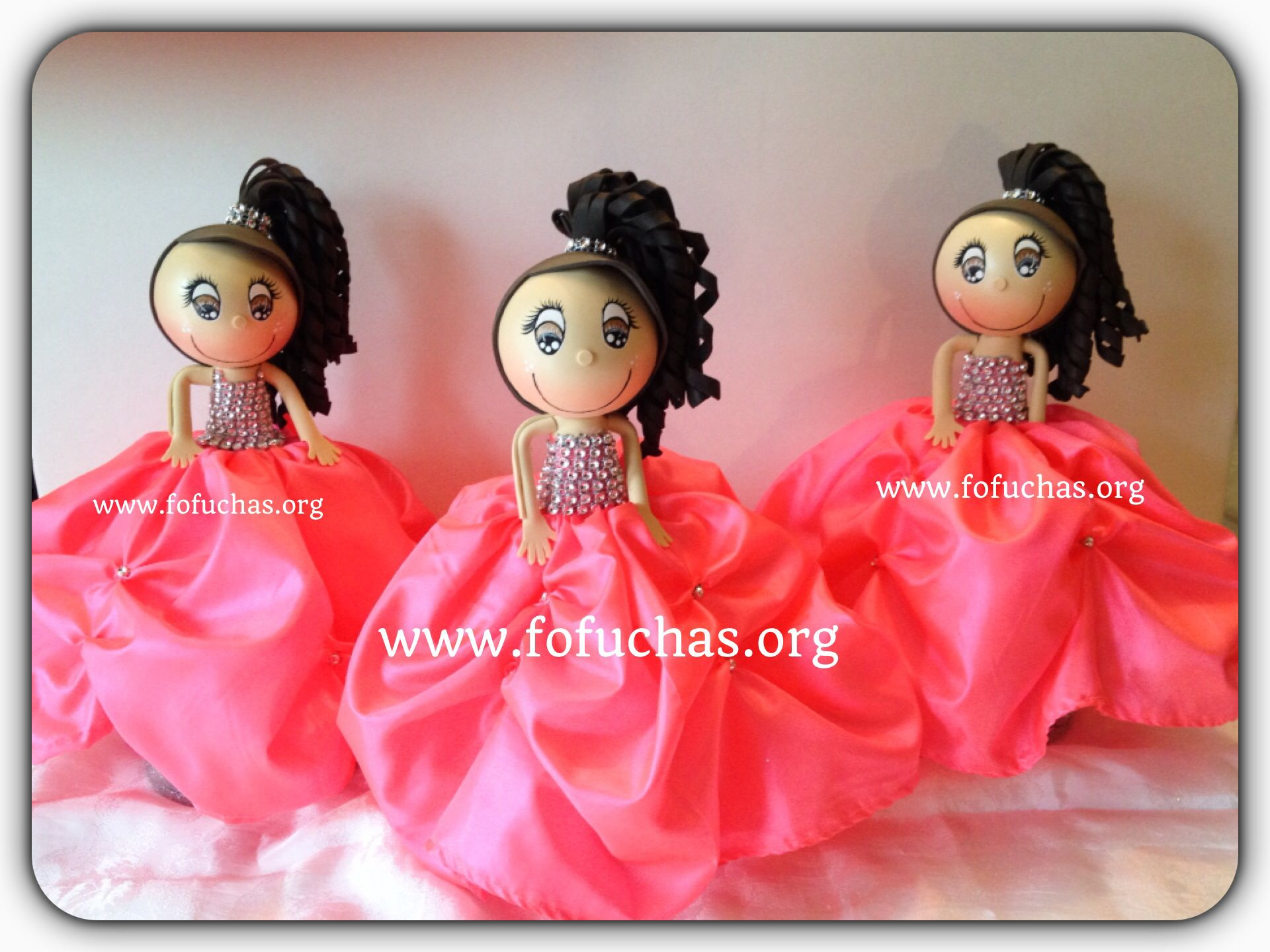 15 Anos Dolls: Handmade Quinceañera Fofuchas Dolls. Having A Quinceañera