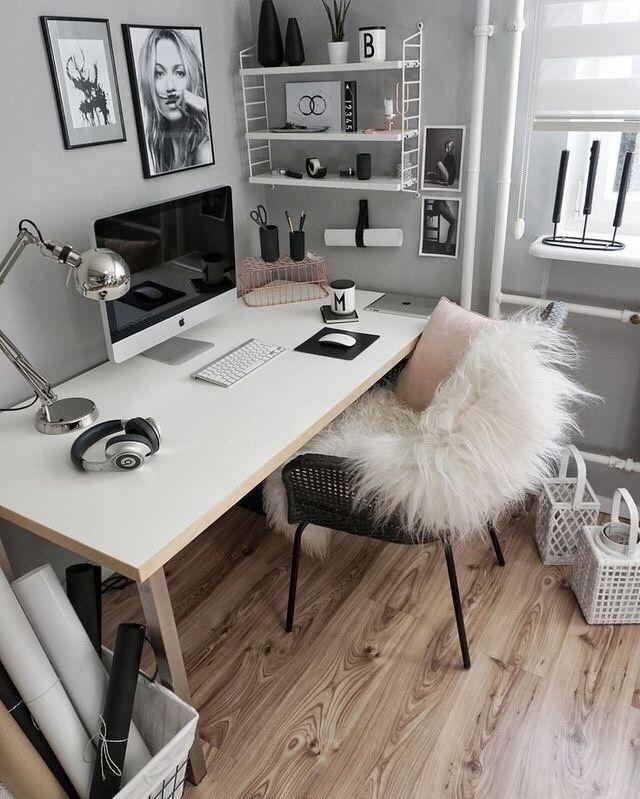 Home Office-Ideen zur Verbesserung Ihrer Arbeit von zu Hause aus - Home Decor #schminktischideen