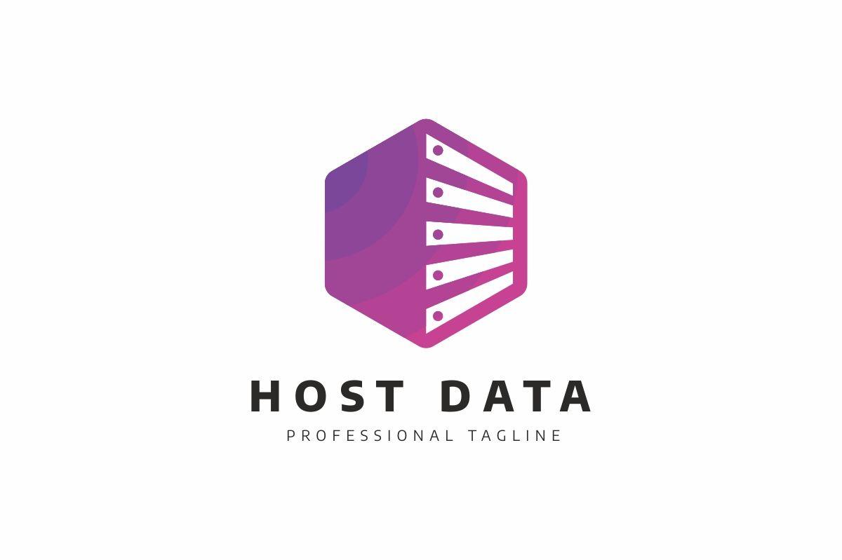 Server Host Data Logo Template 79072 Data logo, Logo