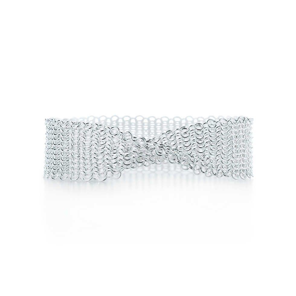 Elsa Peretti Mesh narrow bracelet in sterling silver, extra small Tiffany & Co.