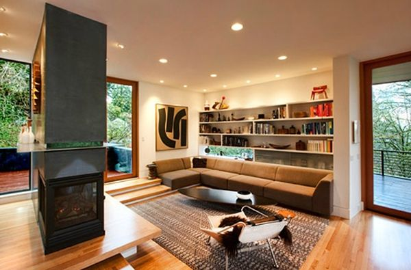 Contemporary House Decor With Fireplaces In Twilight Saga