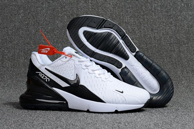 new style 5e32d b1994 Nike Air Max Flair 270 KPU White Black Men s Running Shoes