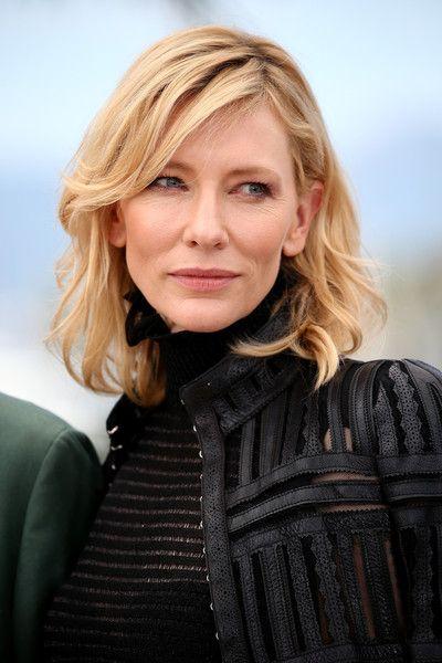 Cate Blanchett Medium Wavy Cut With Bangs Hair Pinterest Cate