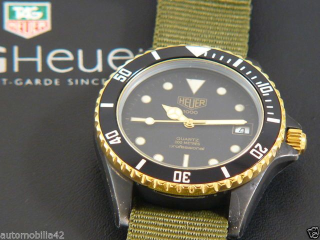 (Pre-TAG) Heuer 1000 Submariner Man Black Coral on a ...