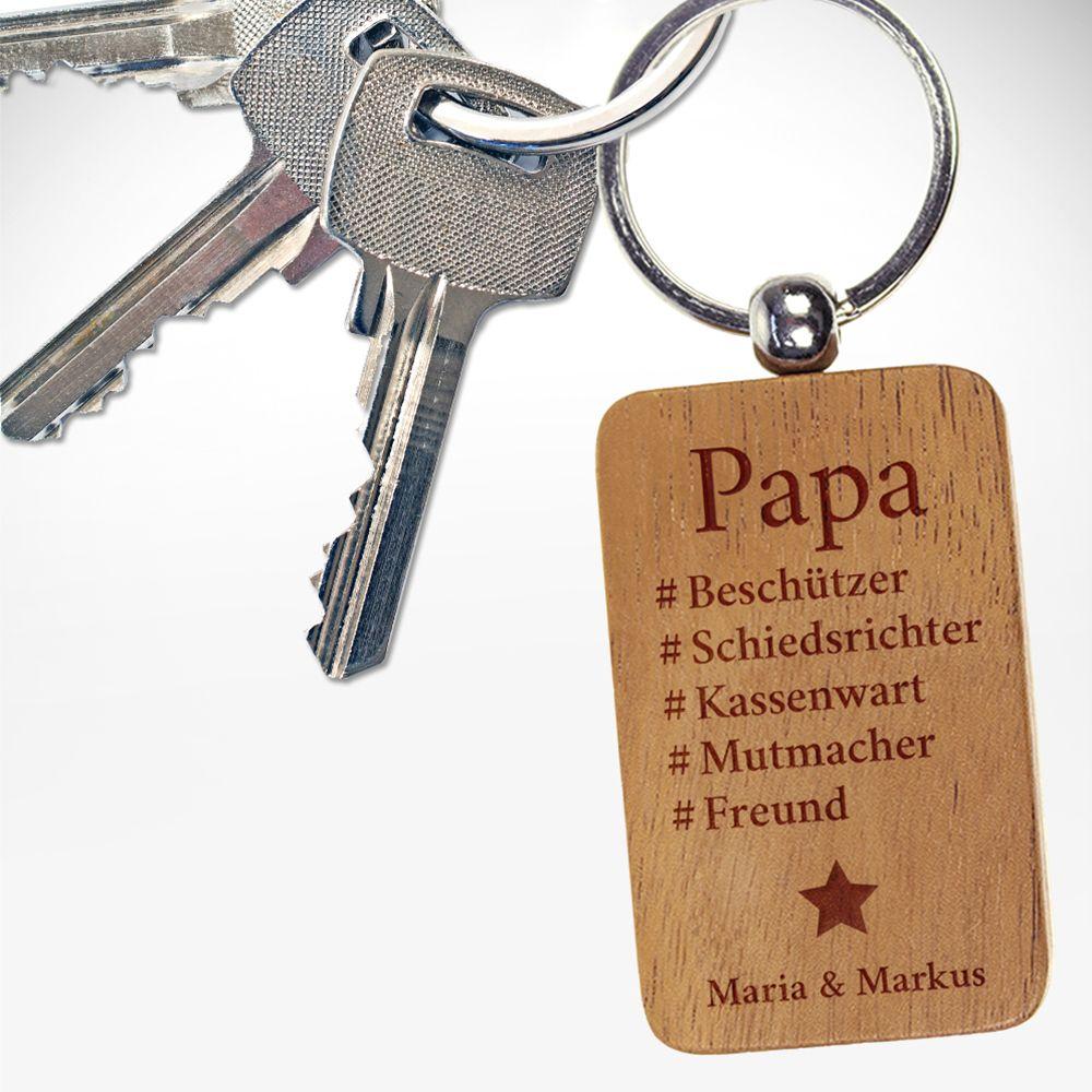 Hashtag - Schlüsselanhänger für Papa - Personalisiert | PAPA ...
