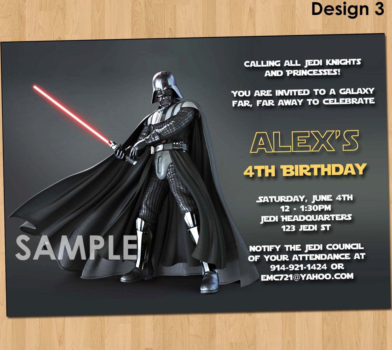 Geburtstagskarte Star Wars Ausdrucken | Geburtstag Einladung
