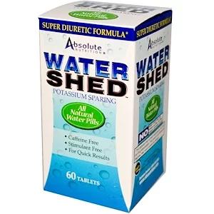 Absolute Nutrition ウォーターシェッド 60タブレット 체중감량 셀러리 카페인