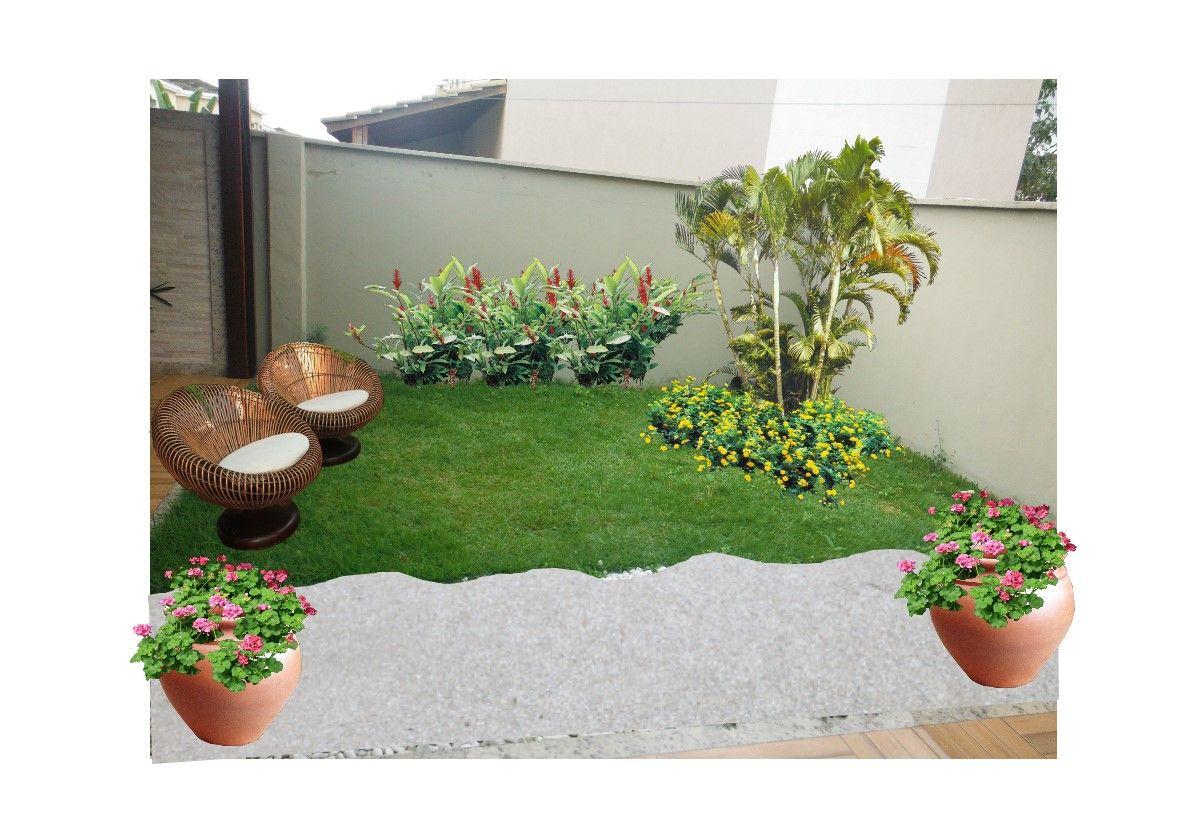 Jardins de casas residenciais simples pesquisa google for Jardines pequenos simples