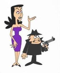 chartoon characters Boris Badenov and Natasha Fatale #vintagecartoon