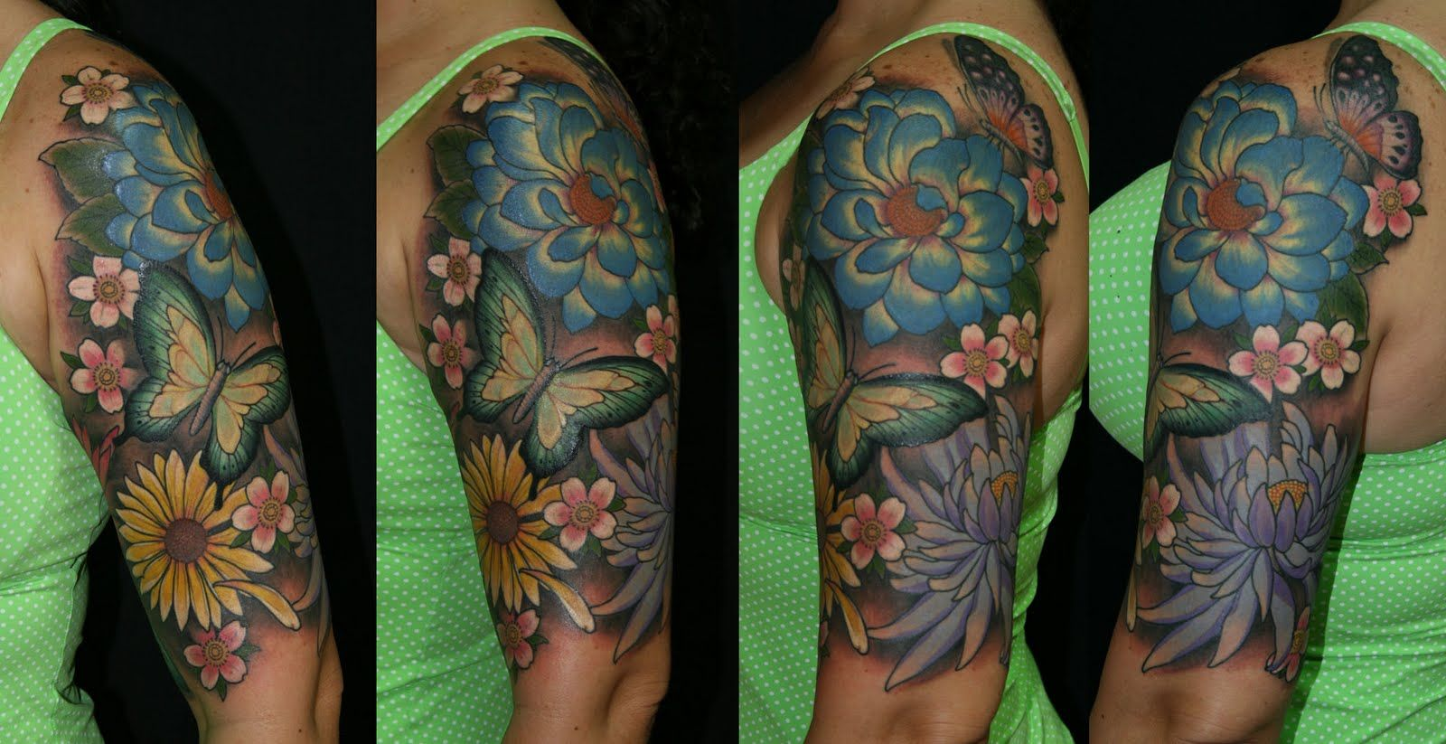 half sleeve flower tattoos for women   Chris Reed Tattoo: Floral ...