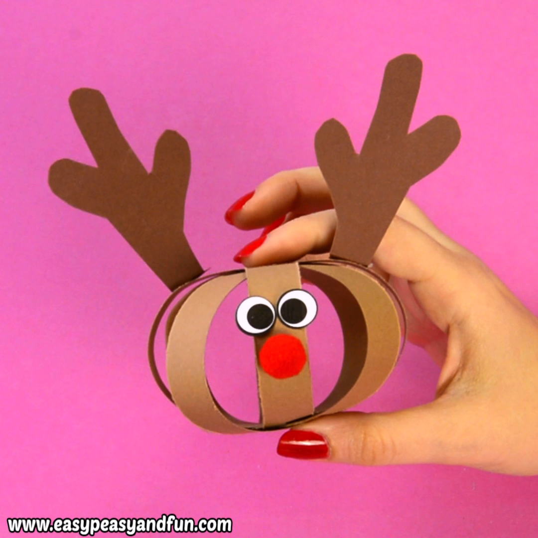 Paper Ball Reindeer Craft #craftsforkids