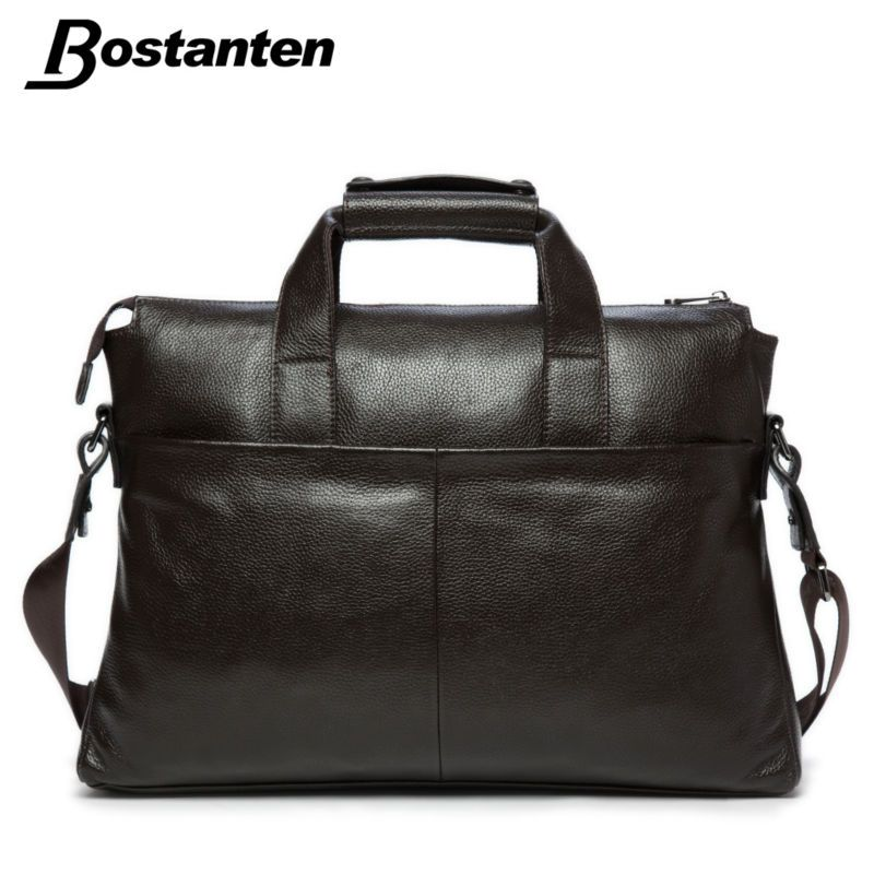 Bostanten 2015 Men Genuine Leather Briefcase Messenger Bags Men ...