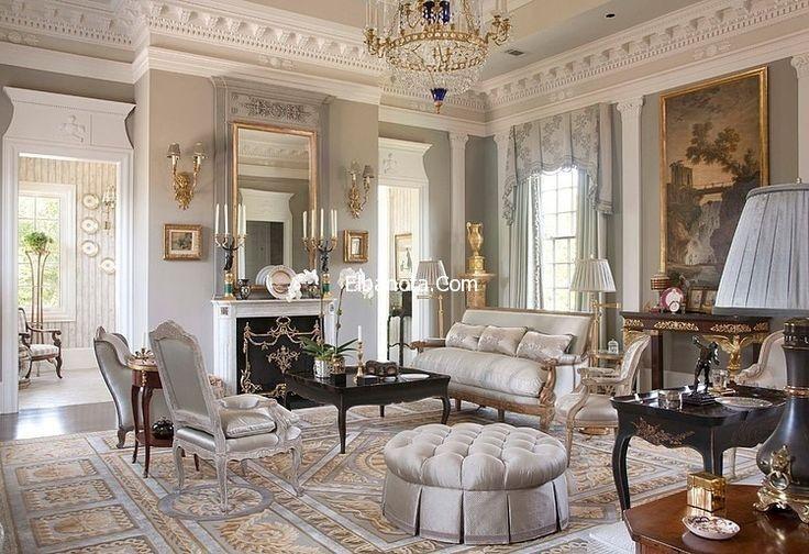 غرف معيشة كلاسيك غرف جلوس مودرن صغيرة غرف معيشة امريكية Glam Living Room Living Room Designs Classic Interior
