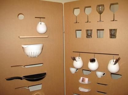 Raumteiler aus Pappe