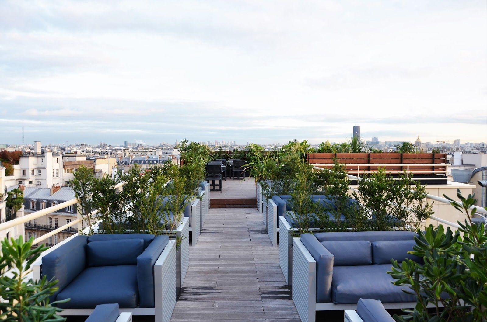 gardens; terraces; offices; corporate headquarters; Paris ...