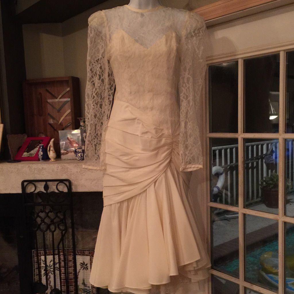 Antique cream wedding dress  Vintage Cream Legends By Judy Berger Wedding Dress