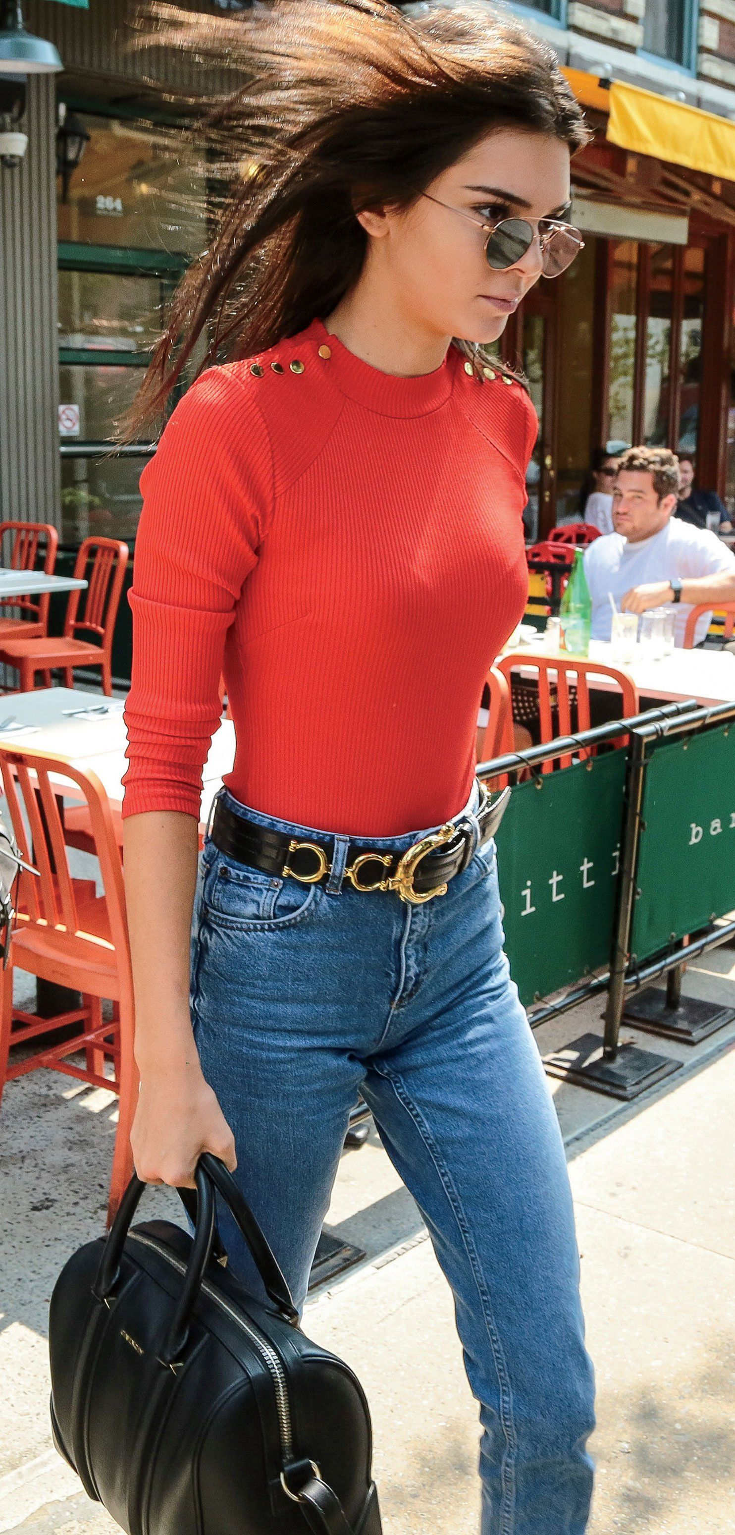 72632ca9bb4 In an H&M bodysuit and Topshop jeans, with a Givenchy bag Kendall Jenner's  13 Best