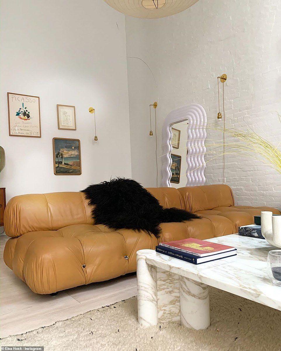 How a supermodel lives: Victoria's Secret vet Elsa Hosk shows off her stunning post-modern apartment